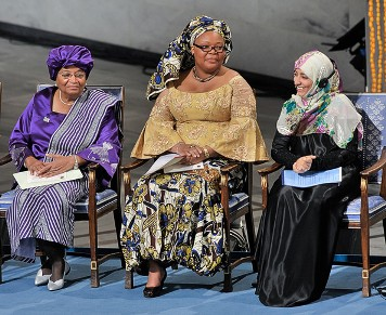 Lionesses Leymah Gbowee, President Ellen Johnson Sirleaf and Tawakkul Karman